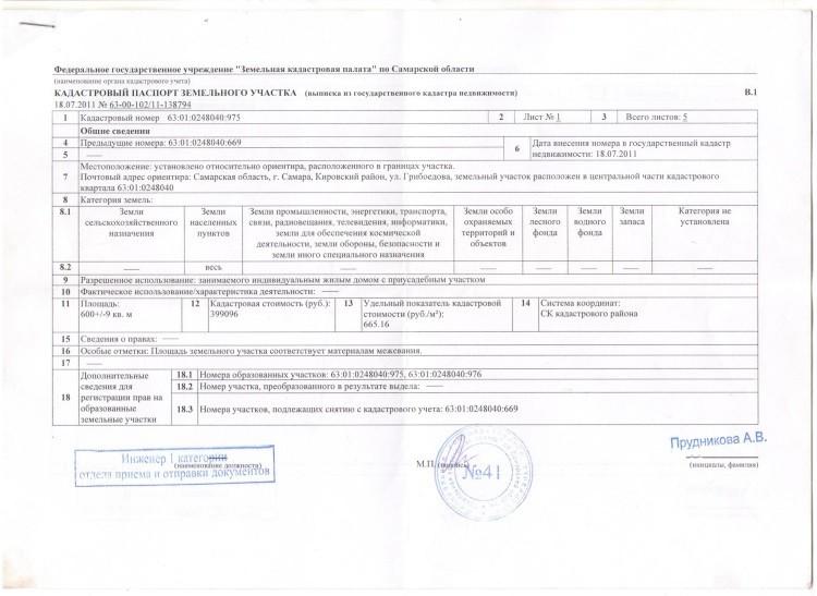 Изображение - Кадастровая паспорт на земельный участок obrazets-kadastrovogo-pasporta-na-zemelnyj-uchastok-str-1